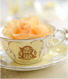 Teacup with monogram